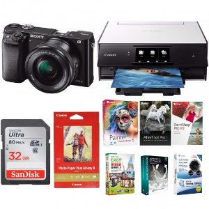 Sony a6000 Photo Printer Bundle with 16-50mm Lens & 32GB Card