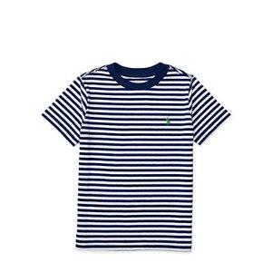 Striped Cotton-Blend Tee - Tees � Tees & Sweatshirts - RalphLauren.com