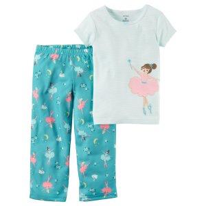Baby Girl 2-Piece Cotton & Jersey PJs | Carters.com