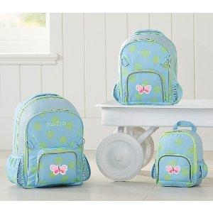 Fairfax Aqua/Light Green Dots Backpacks | Pottery Barn Kids