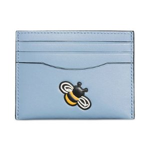 COACH Boxed Embossed Flat Card Case - COACH - Handbags & Accessories - Macy's