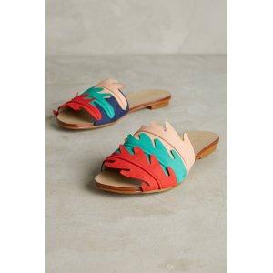Guilhermina Scalloped Slide Sandals | Anthropologie