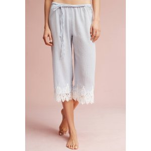 Lace-Trimmed Sleep Pants | Anthropologie