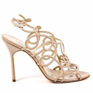 Manolo Blahnik Womens Cut Out Sandal (427322201) | Bluefly.Com
