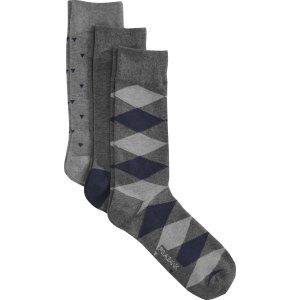 Geometric Patterned Argyle Dress Socks, 3-Pack CLEARANCE - Accessories | Jos A Bank