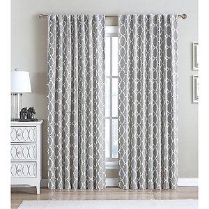 Be Artistic Ellis Oval Rod Pocket/Back Tab Window Curtain Panel - Bed Bath & Beyond