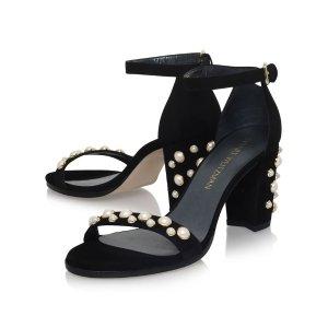 Stuart Weitzman Bingpearls Suede Sandals