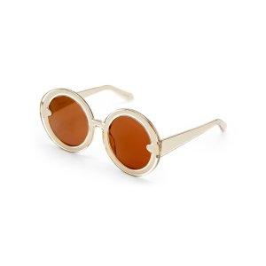 Yellow Celebrate Orbit XL Round Sunglasses