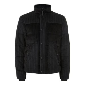 Black Corduroy Puffer Jacket - New Arrivals - New In
