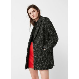 Flecked wool-blend coat - Women | OUTLET USA