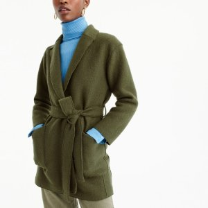 Wrap coat in boiled wool