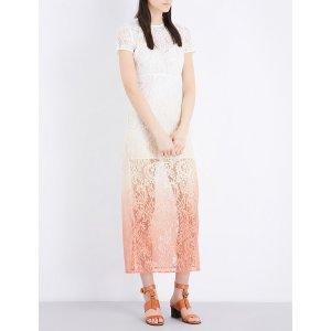 MAJE - Ralux ombré lace dress   Selfridges.com