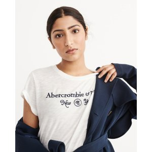 Womens Logo Graphic Tee | Womens Clearance | Abercrombie.com