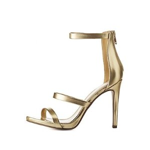 Metallic Three-Piece Dress Sandals | Charlotte Russe