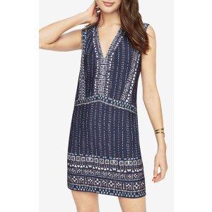 Bridgit Print-Blocked Dress