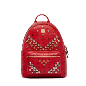 Medium Stark Backpack in Ruby Red by MCM