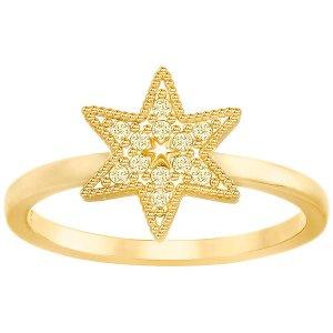 Field Star Ring, Gold Tone - Jewelry - Swarovski Online Shop