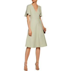 Pleated wool and silk-blend dress | Valentino | US | THE OUTNET