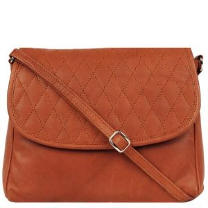WILSONS LEATHER QUILTED FLAP SMALL LEATHER CROSSBODY