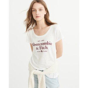 Womens Logo Graphic Tee | Womens Tops Sale | Abercrombie.com