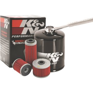 K&N KN303 Black Wrench-Off Performance Gold Oil Filter