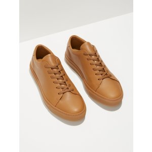 Park Leather Low-Top Sneakers in Tan | Frank And Oak