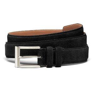 Wide Basic Suede Dress Belt