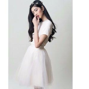 Gretta Tulle Skirt - Ivory - 24