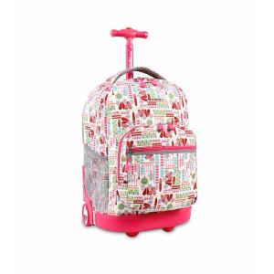 J World® Sunrise Heart Factory Rolling Backpack | Bon-Ton