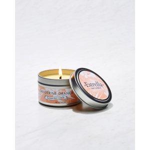 Estrella Soap Company Tangerine Orange Candle Tin