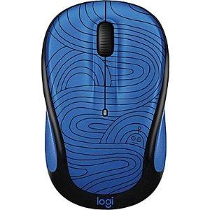 Logitech M325C Wireless Optical Mouse, Ambidextrous, Deep Blue Bot (910-005030) | Staples®