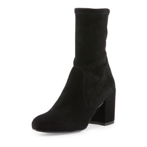 Stuart Weitzman Calare Stretch-Suede Ankle Boot