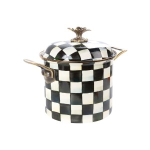 Courtly Check Stockpot by MacKenzie-Childs at Gilt
