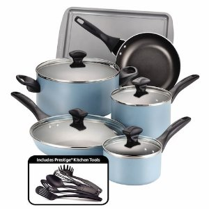 Today Only: $37Farberware 15-pc. Nonstick Aluminum Cookware Set
