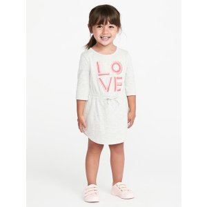 Cinched-Waist Jersey Dress for Toddler Girls