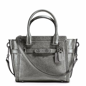 Swagger Small Pebbled Leather Satchel