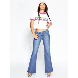 Low-Rise Bell Bottom Jeans at Guess