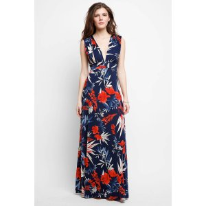 Abbeline Floral Plunging Maxi Dress   South Moon Under