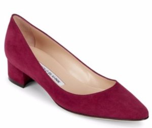 $238.99(Org. $665) Manolo Blahnik Listony Suede Block Heel Pumps @ Saks Off 5th