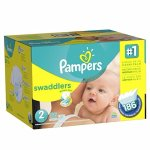 Pampers Swaddlers Diapers Size 2, 186 Count