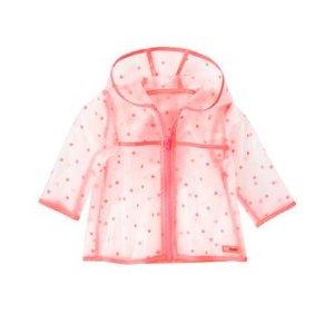 Baby Peach Dot Dot Rain Jacket by Gymboree