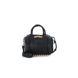 Alexander Wang - Alexander Wang Mini Rockie Bowler Bag In Fine Tumbled Black Lamb Leather - MINIROCKIE-20S0066-B, Women's Totes | Italist