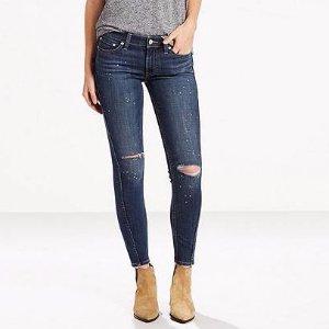 711 Twisted Seam Skinny Jeans   Indigo Exhibition  Levi's® United States (US)