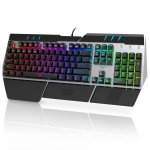 HAVIT Metal Base RGB Backlit Wired Mechanical Gaming Keyboard with Blue Switches