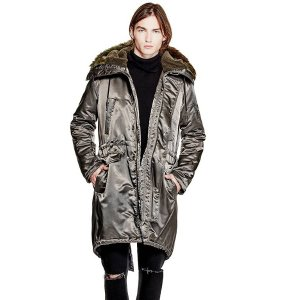 Explorer Fishtail Parka at Guess