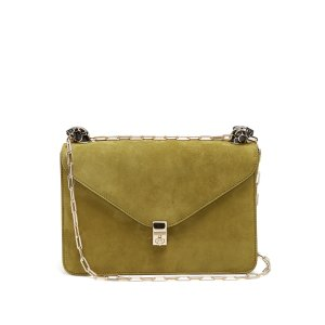 Panther-embellished suede shoulder bag | Valentino | MATCHESFASHION.COM US