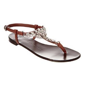Giuseppe Zanotti Embellished Leather Sandal