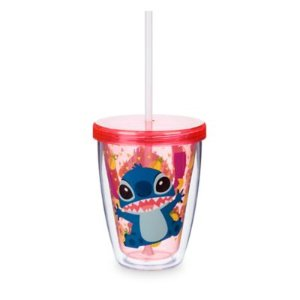 Stitch Tumbler with Color Changing Straw