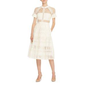 Lace-Paneled Cotton Dress   Moda Operandi