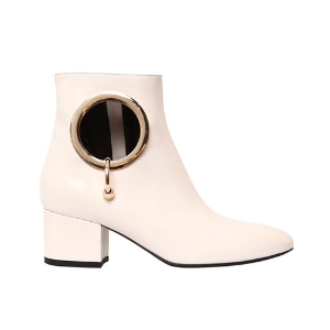 COLIAC - 55MM ALICE CUTOUT LEATHER ANKLE BOOTS